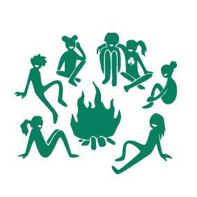De grønnge pigespejdere - børn